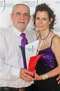 David & Daniela receiving their 2010 Qld Tourism Award