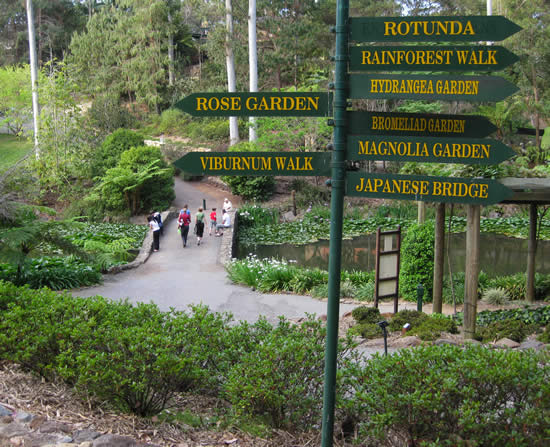 Tamborine Mountain's own Botanic Gardens offers many different styles of gardens