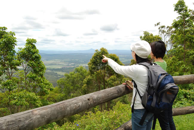 Couple at the lookout on Mt Tamborine