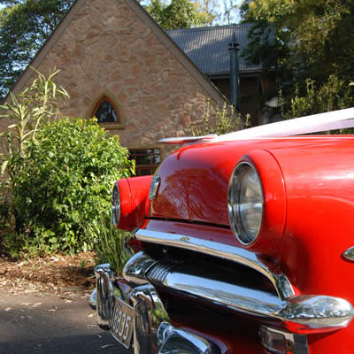 Wedding car ready to take you to one of the venues on Mt Tamborine