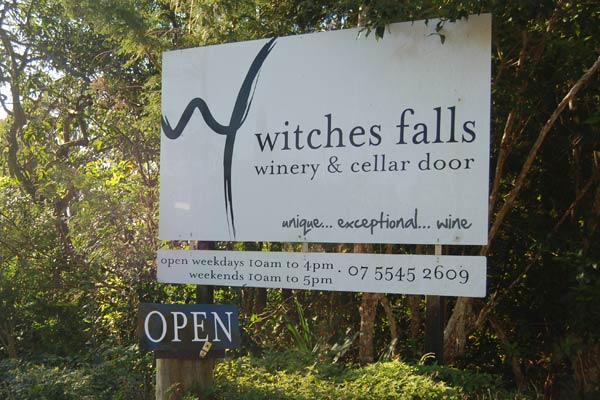 Cellar Door open at Witches Falls Winery