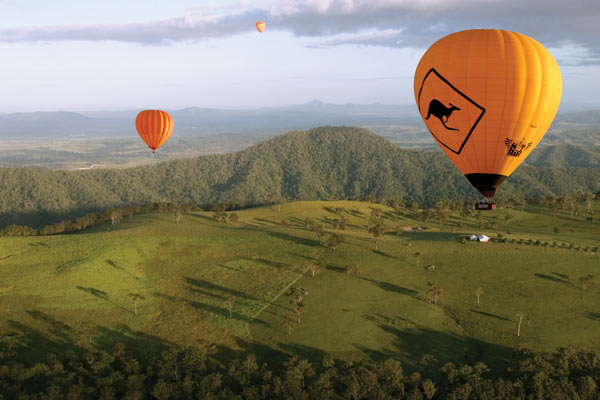 Hot Air Balloons over the Gold Coast Hinterland