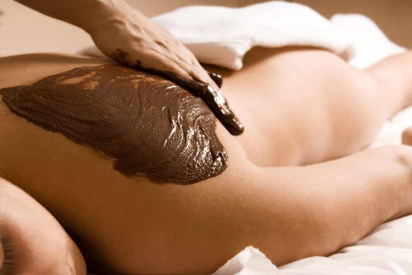 Massage with Chocolate infused Massage Oil