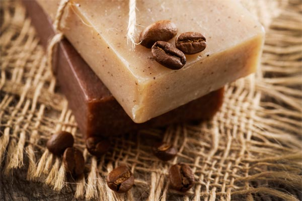 Coffee Soap with Coffee Beans