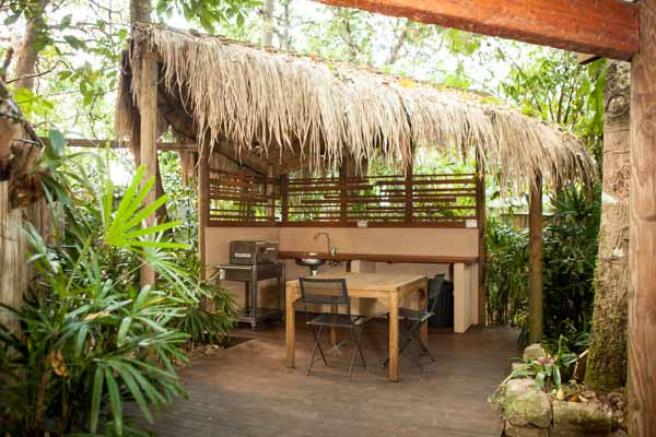 Rainforest Suite - your private courtyard garden with BBQ