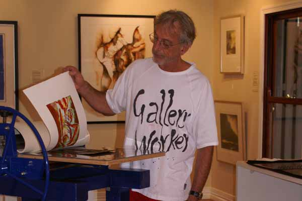 Richard Roper at his Gallery