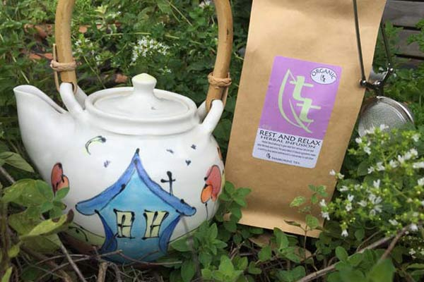 Tea Pot with Rest and Relax Herbal Tea