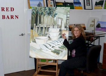 Louise in her Red Barn studio