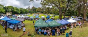 View of Tamborine Mountain Country Markets Stalls