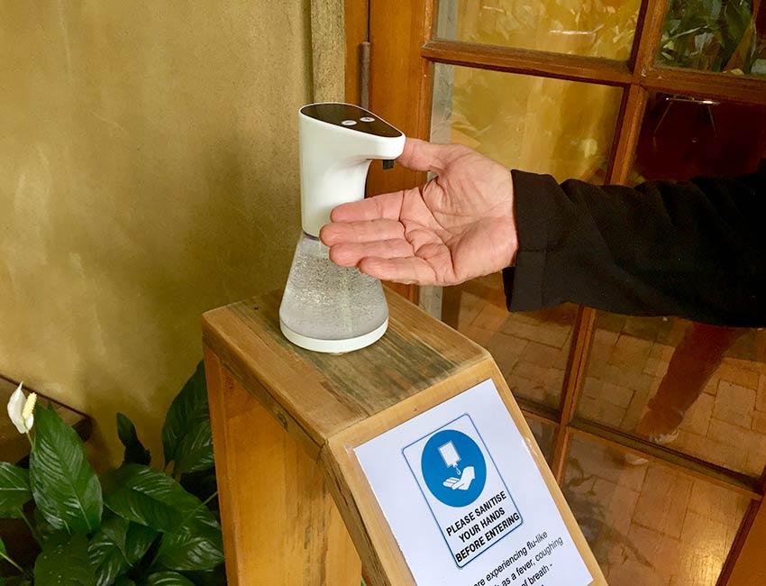 Wooden Hand Sanitiser Unit