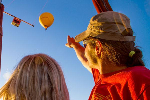 Couple Hot Air Balloon Gold Coast Flying