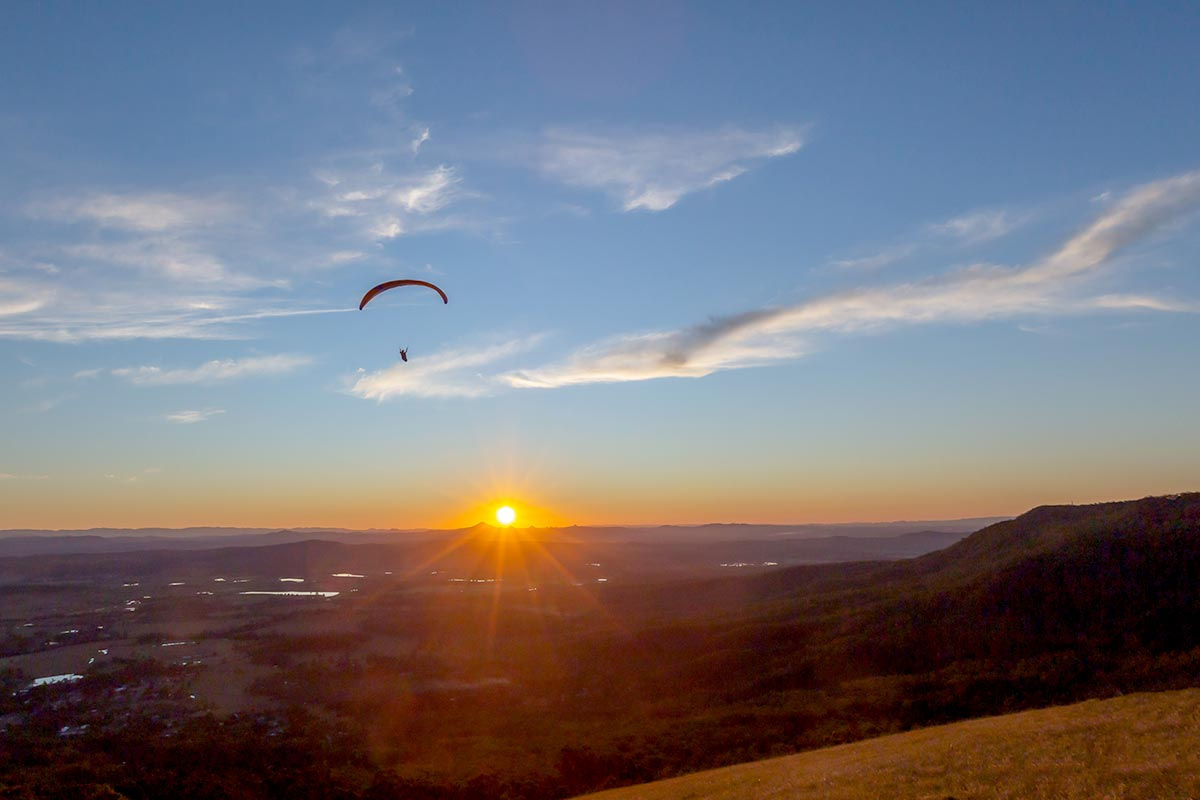 Sunset Image from Hang Glider Lookout Tamborine Mountain