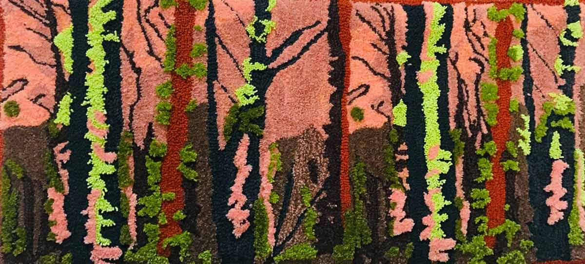 Rug hung on waal at Tamborine Mountain Arts Collective - Rug