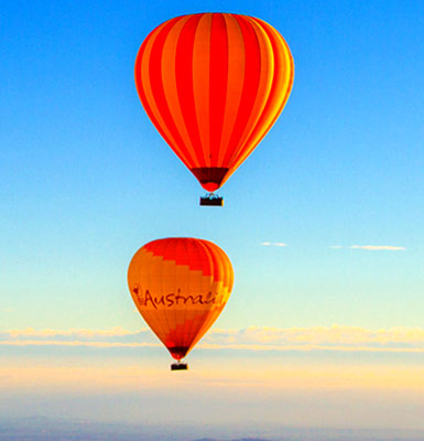 Two Hot Air Balloons over Scenic Rim-ps