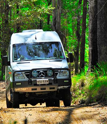 4 Wheel Drive Tour Vehicle in Rainforest