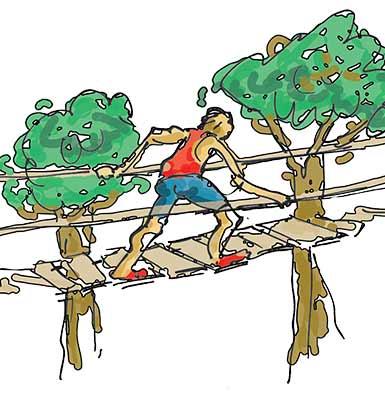 Illustration Thunderbird Park - High Ropes Adventure