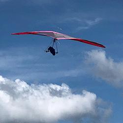 Solo Hang Gliding Flight