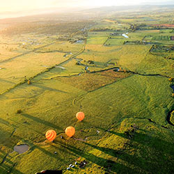 Hot Air Balloons flying over Scenic Rim Area