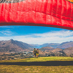 Preparing for a Paragliding flight